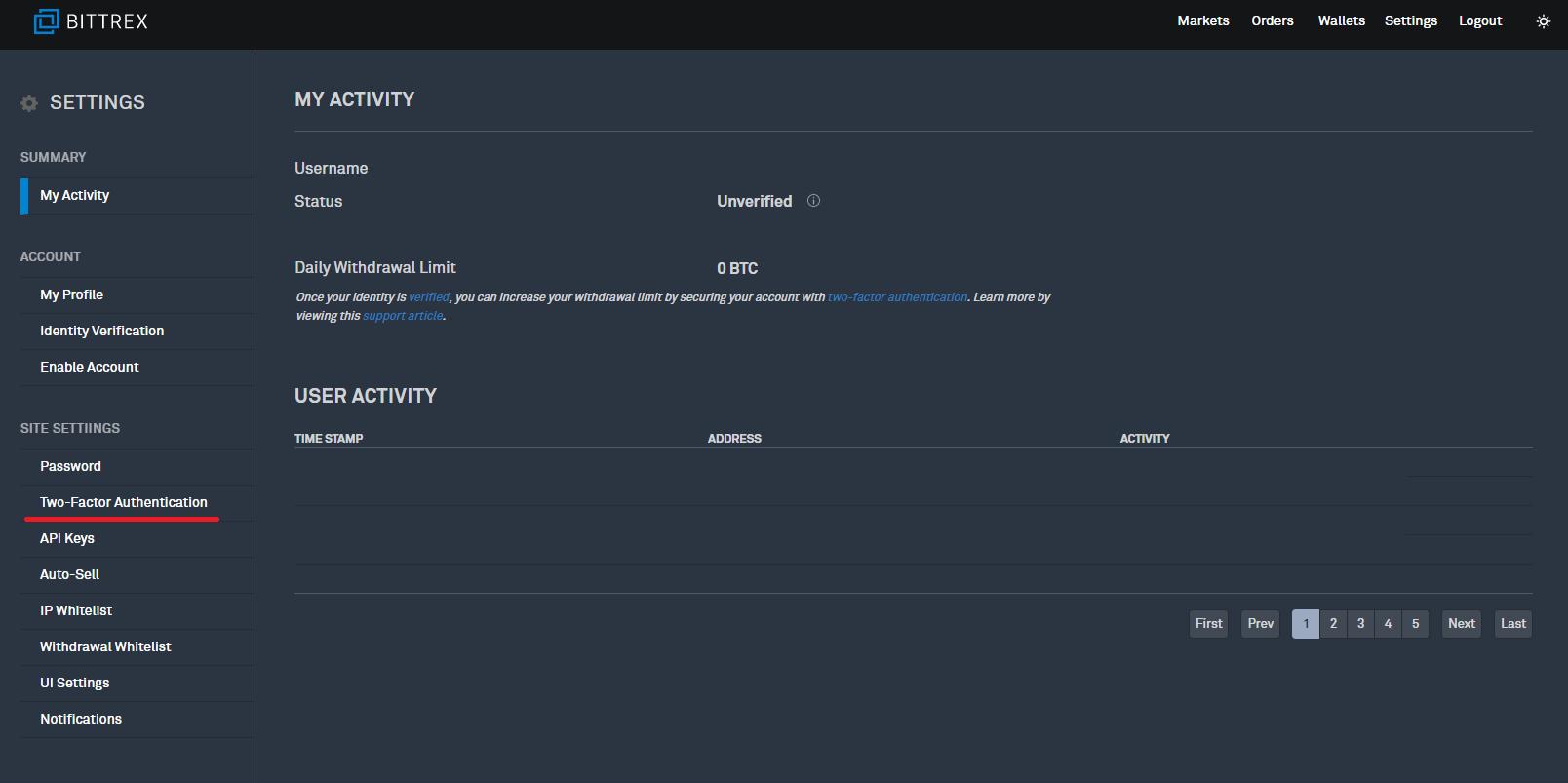 Bittrexの口座開設と二段階認証設定の手順12