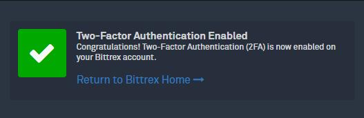 Bittrexの口座開設と二段階認証設定の手順18