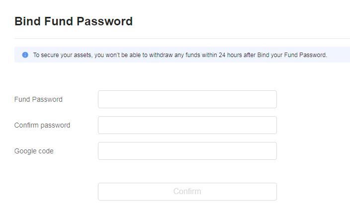 OKEx(オーケーイーエックス)Fund Passwordの設定手順5