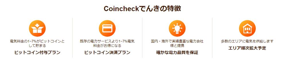 Coincheckでんきの特徴