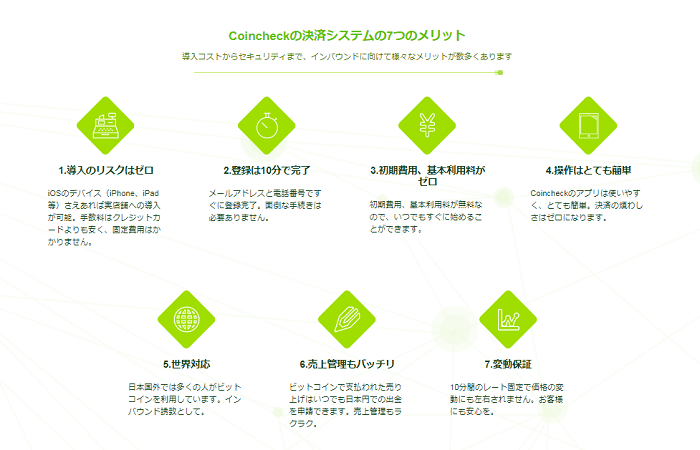 Coincheck Paymentのメリット